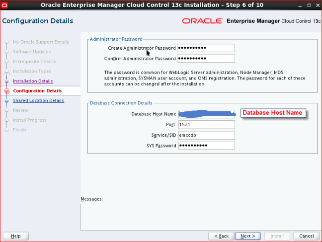Oracle Enterprise Manager 13c (13 2) Installation on Linux